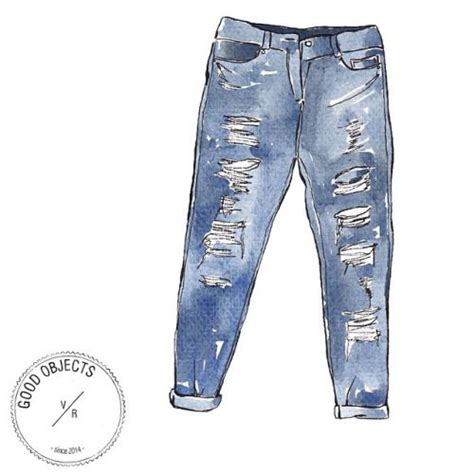 good objects essentials ripped jeans denim