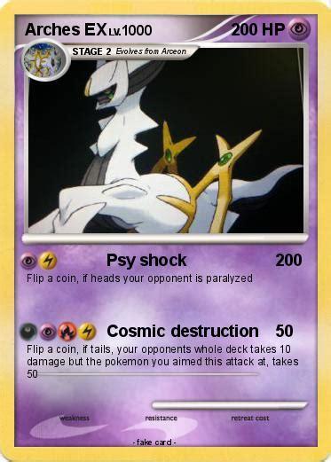 pokemon arches  psy shock  pokemon card