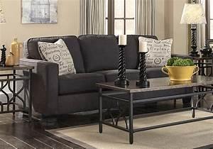 Alenya charcoal queen sleeper sofa lexington overstock for Sectional sleeper sofa overstock