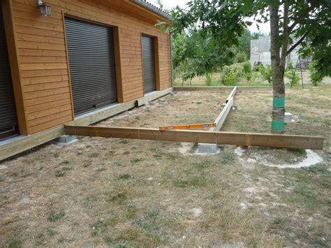 Construire Une Terrasse En Bois Sur Dalle Béton by Nivrem Com Terrasse Bois Sur Plot Beton Diverses Id 233 Es
