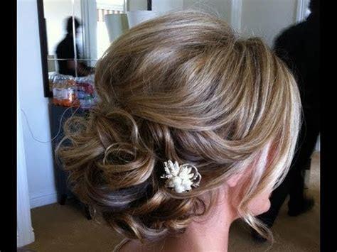 easy hairstyle  medium long hair prom wedding
