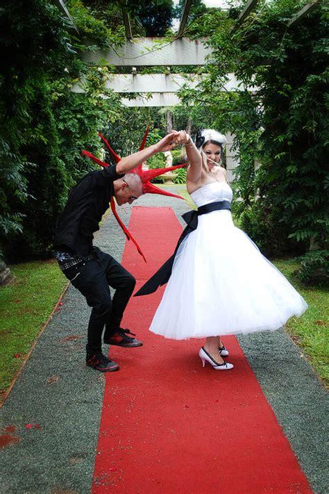 punk rock wedding lauren  rock  roll bride