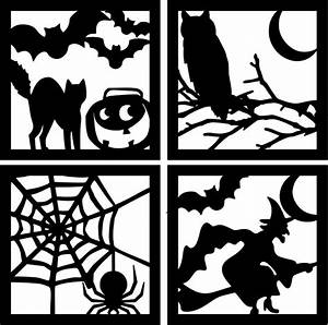 451 best halloween silhouettes images on pinterest With halloween window silhouettes template