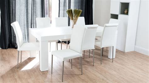 white and oak dining table set modern chunky white oak dining table and real leather
