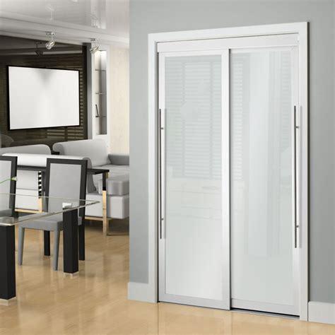 veranda   white framed  panel sliding door