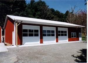 beautiful three car garage kits 12 car garage pole barn With 3 car pole barn