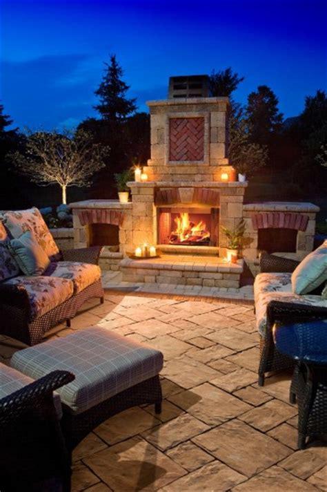 unilock fireplace cost thornbury patio with fireplace photos