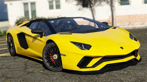 lamborghini aventador s roadster precio 2018 lamborghini aventador s roadster add on wipers auto spoiler template gta5 mods com
