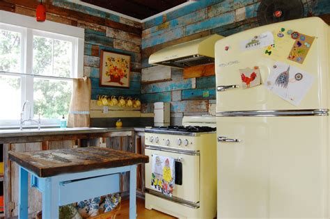 mobilier cuisine vintage my houzz colorful vintage finds fill a chic modern