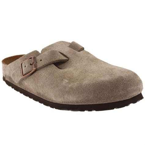 Sas Shoes Boston by Birkenstock Boston Soft Footbed Taupe Suede 56077 Unisex