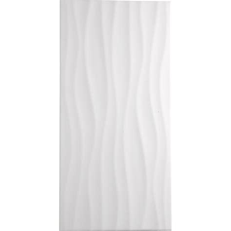 carrelage cuisine murale carrelage mur blanc décor hawaï wave l 25 x l 50 cm leroy merlin