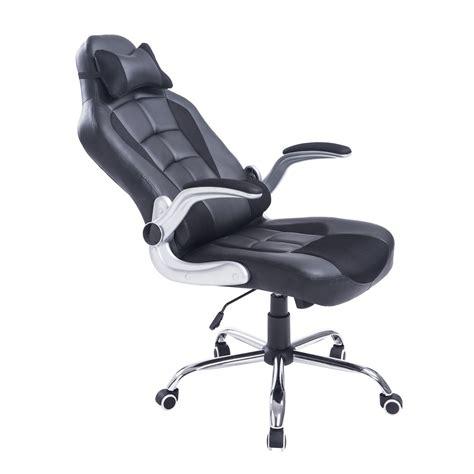 chaise de bureau confort homcom fauteuil chaise de bureau modèle baquet de course