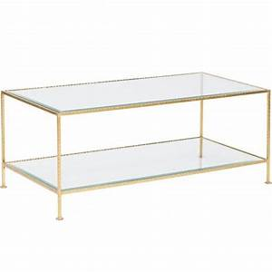 worlds away taylor 2 tier rectangle gold coffee table With gold rectangle coffee table