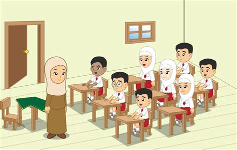 Kartun Murid Dan Guru Mungfali