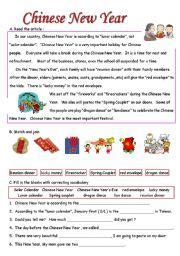 english worksheet chinese new year preschool worksheets