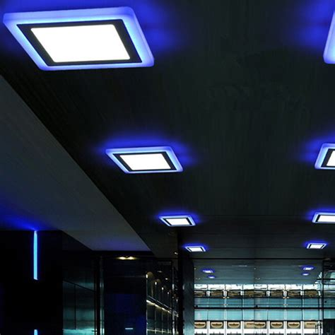 dual color led panel lights downlight ceiling recessed