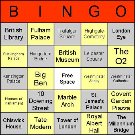 Famous Human Bingo Cards