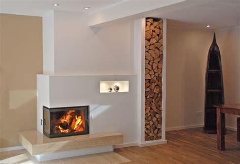 Ambio Design Kachelofen Kaminofen  Gestapeltes Holz Als