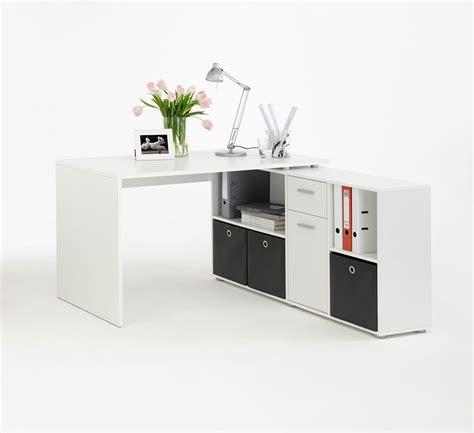 bureau blanc avec rangement bureau angle blanc avec rangements