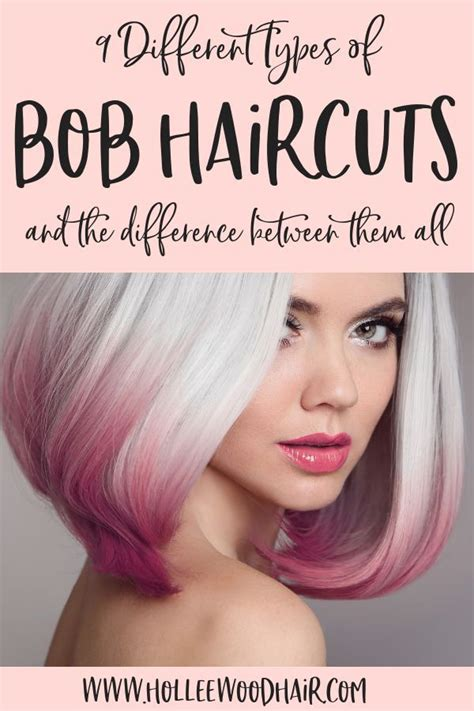 The Different Types of Bobs A line haircut Inverted bob