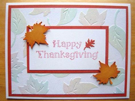 ideas  homemade thanksgiving cards family