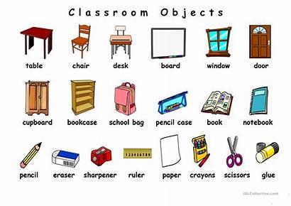 Classroom Objects English Esl Worksheets Vocabulary Worksheet