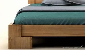 Lit 2 Places Moderne : lit en bois massif design pour chambre adulte veron ~ Teatrodelosmanantiales.com Idées de Décoration