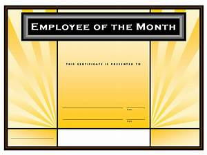 employee of the month certificate template with picture - employee of the month format driverlayer search engine