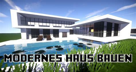 Großes Modernes Haus by Gro 223 Es Modernes Haus Minecraft Project Avec Modernes Haus