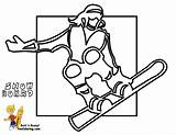 Coloring Snowboard Winter Sports Hockey Pages Cold Yescoloring Boys Bone Playing sketch template