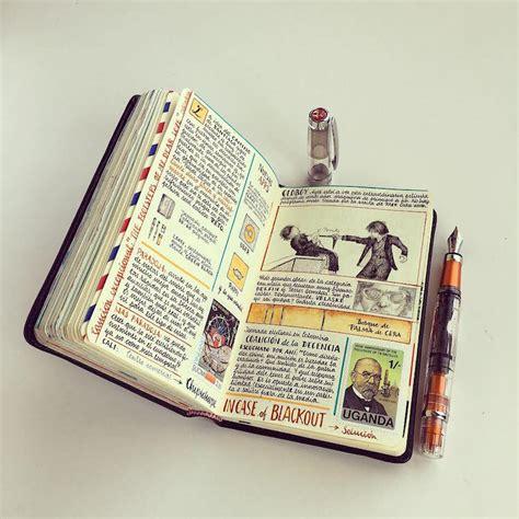 artist fills travelers notebook  intimate visual diary