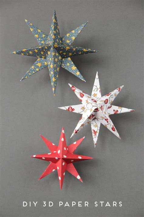 diy  paper star christmas decorations christmas