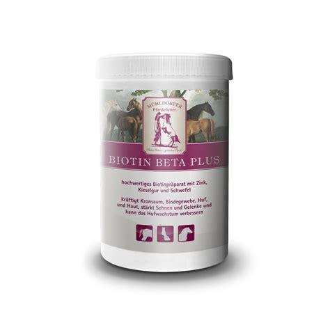 biotin beta  muehldorfer pferdefutter gutes futter