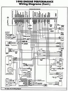 1990 Engine Performance Wiring Diagram With Control Module