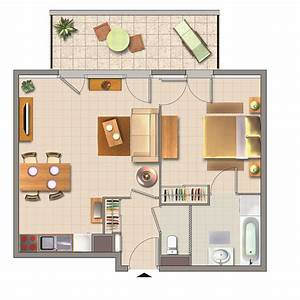 plans d appartements modernes plan 3d appartement With plans d appartements modernes
