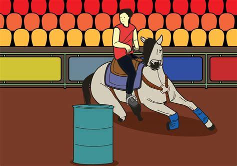 barrel racing illustration   vector art