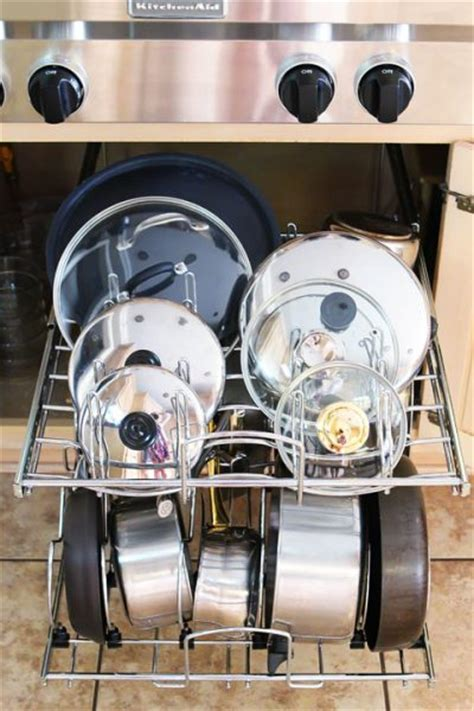 kitchen storage for pots and pans 11 clever and easy kitchen organization ideas you ll 9597