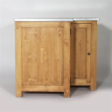 canapé en bois massif meuble angle cuisine en bois plateau zinc cagne made