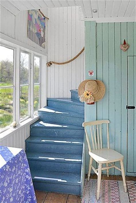 nautical inspired staircases  beach homes