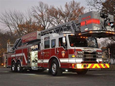 ladder truck dedicated  fallen cranford firefighter
