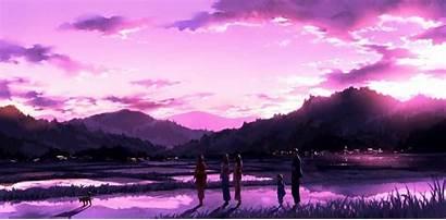 Anime Wallpapers Sky Sunset Landscape Scenery Aesthetic