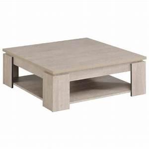 Table Basse Loft : loft table basse carr e style contemporain d cor bois gris l 86 x l 86 cm achat vente ~ Teatrodelosmanantiales.com Idées de Décoration