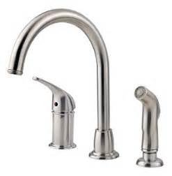 price pfister kitchen faucet sprayer repair pfister cagney 1 handle kitchen faucet with side spray stainless steel touch on kitchen sink