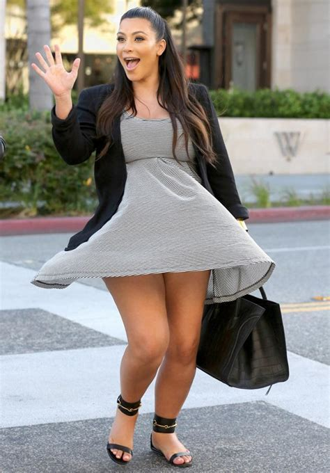 Oopsy! Kim Kardashian suffers wardrobe malfunction on