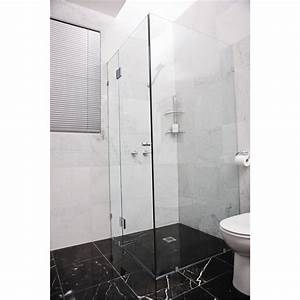 Highgrove 10 x 2000 x 875mm frameless glass shower panel for Bathroom wall panels bunnings