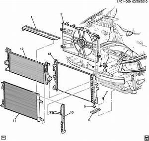 Chevrolet Cruze Shroud  Radiator Fan Shroud