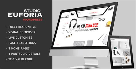 euforia  responsive vcard wordpress theme