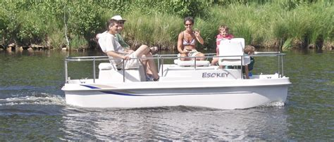 escboats electric powered deck boats