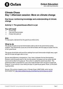 The Greenhouse Effect In A Jar Lesson Plan For 4th