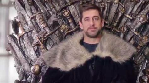 aaron rodgers apparently set   game  thrones
